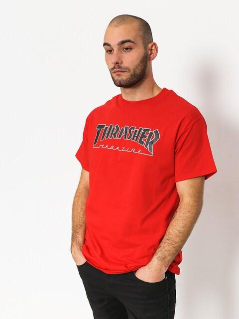 Tričko Thrasher Outlined Bts (red)