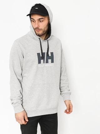 Mikina s kapucňou Helly Hansen Logo HD (grey melange)