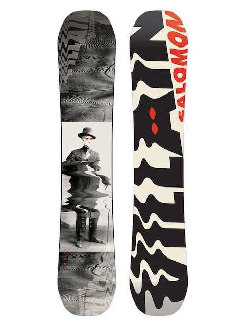 Snowboard Salomon The Villain (white/black/red)