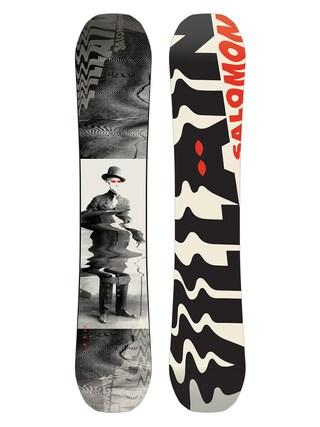 Snowboard Salomon The Villain (white/black/red)