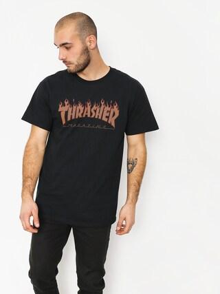 Tričko Thrasher Flame Halftone (black)