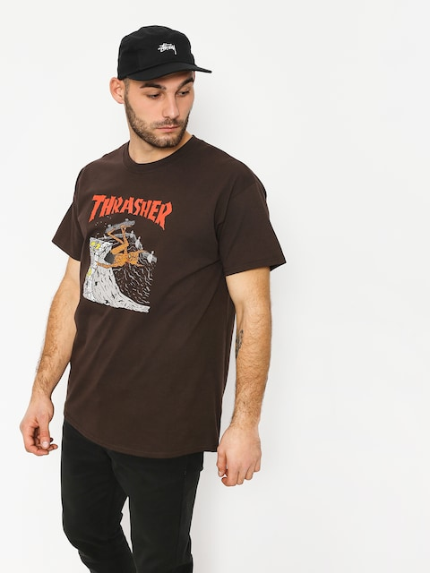 Tričko Thrasher Nackface Invert (brown)