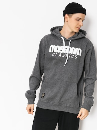 Mikina s kapucu0148ou MassDnm Classics HD (dark heather grey)