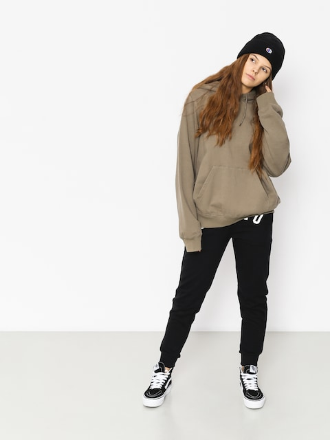 Mikina s kapucňou Stussy Scout HD Wmn (taupe)