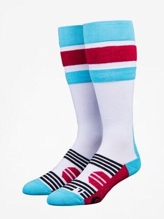 Ponožky Stinky Socks Stripe (white/blue/red)