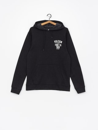 Mikina s kapucňou Volcom True To This HD (blk)