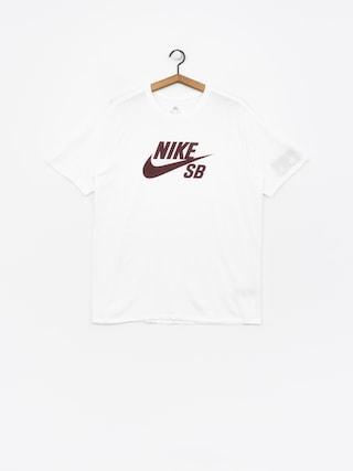 Tričko Nike SB Sb Logo (white/white/burgundy crush)