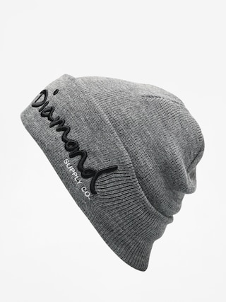 Čiapka Diamond Supply Co. Og Script Beanie (gunmetal heather)
