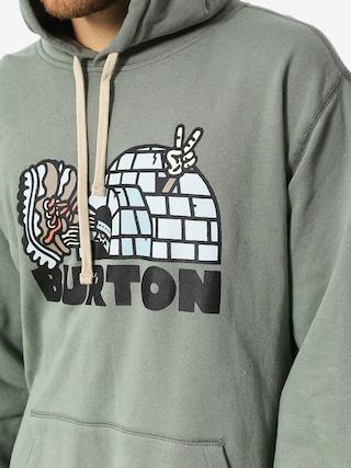 Mikina s kapucňou Burton Cupajo Org HD (lily pad)