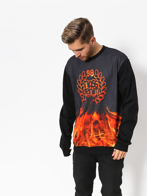Mikina MassDnm Burn Babylon (black)