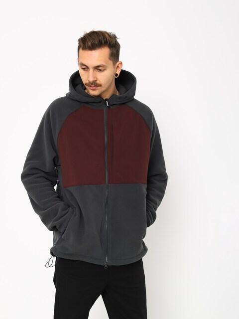 Mikina s kapucňou Nike SB Sb Hoodie Fz Polartec ZHD (anthracite/burgundy crush/black)