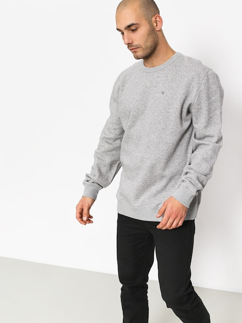 Mikina Brixton B Shield Crew (heather grey)