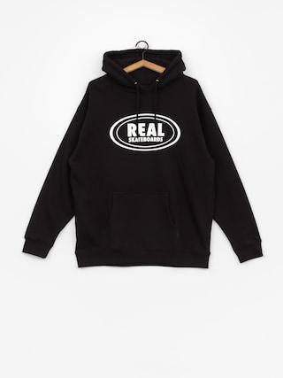 Mikina s kapucňou Real Og Oval HD (black/white)