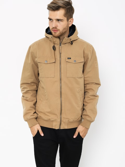 Bunda RVCA Hooded Bomber II (dark sand)