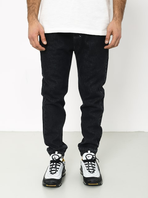 Nohavice MassDnm Truth Joggers Jeans Trap Fit (black rinse)