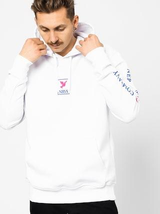 Mikina s kapucňou Nervous Frame HD (white)
