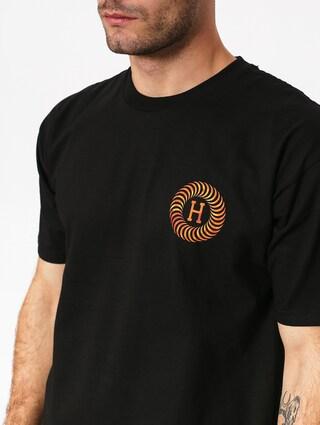 Tričko HUF Spitfire Fire Swirl (black)