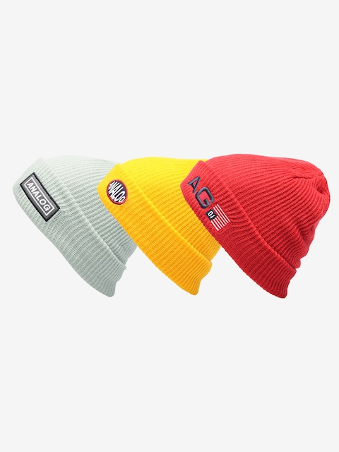 Čiapka Analog Beanie 3 Pack (prored/flshbk/aquagr)