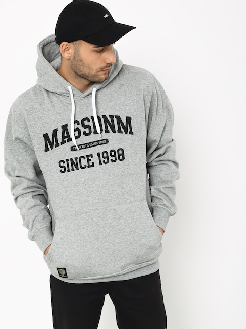 Mikina s kapucňou MassDnm Campus HD (light heather grey)