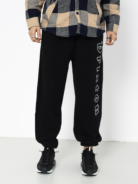 Nohavice Brixton Proxy Sweatpant (black/white)