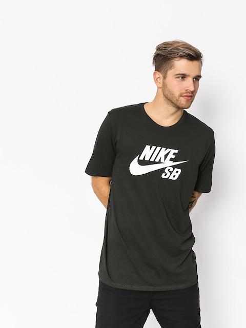 Tričko Nike SB Sb Logo (sequoia/sequoia/white)