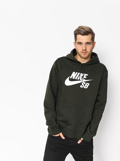 Mikina Nike SB Sb Icon (sequoia/white)