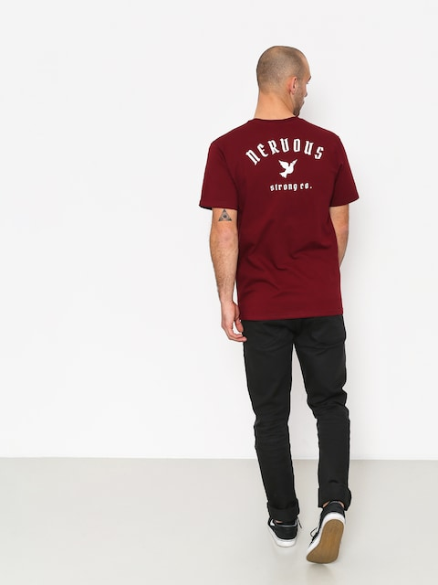 Tričko Nervous Ltd (maroon)