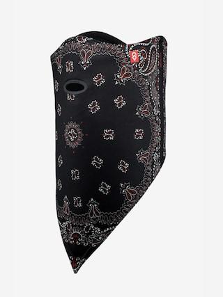 Bandana Airhole Facemask Standard (black paisley)
