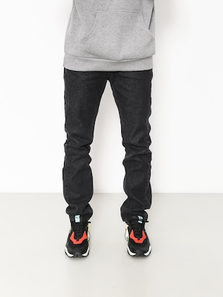 Nohavice MassDnm Classics Jeans Straight Fit (black rinse)