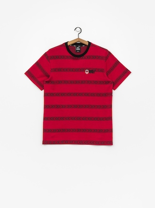 Tričko HUF Spitfire Striped Knit (red)
