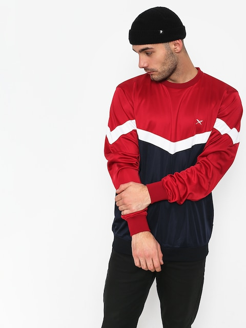Mikina Iriedaily Block Steady (navy red)