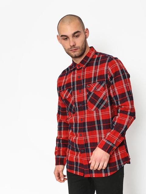 Košeľa Brixton Bowery Ls (red/navy)