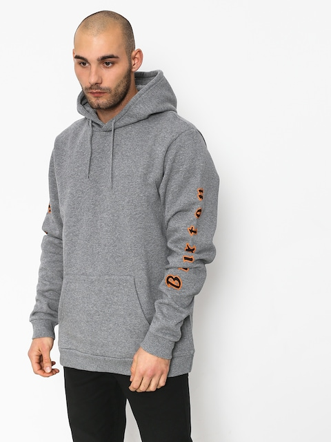 Mikina s kapucňou Brixton Primo Intl HD (heather grey)