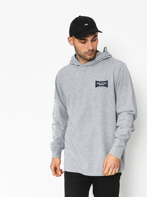 Mikina s kapucňou Brixton Ramsey Sv II HD (heather grey)