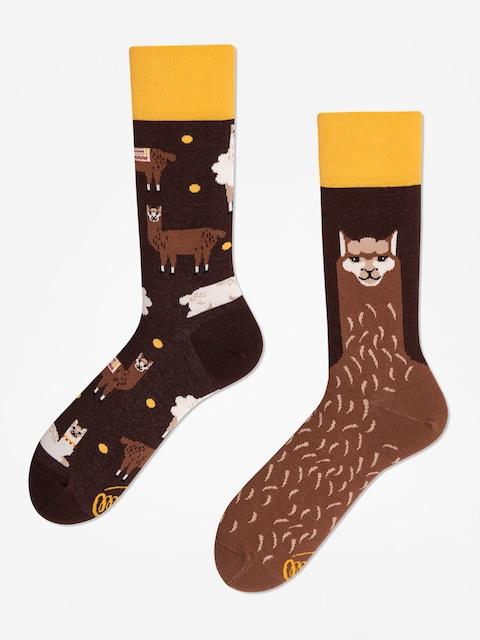 Ponožky Many Mornings Fluffy Alpaka (brown)