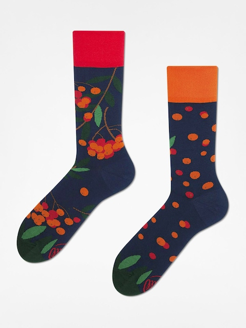 Ponožky Many Mornings Rowan Berries (navy/red/orange)