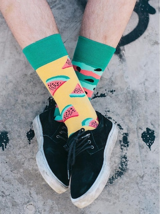 Ponožky Many Mornings Watermelon Splash (yellow/green)