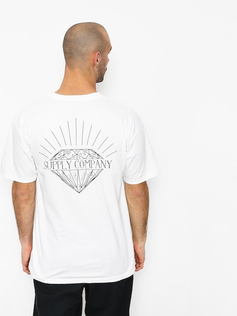 Tričko Diamond Supply Co. Split (white)