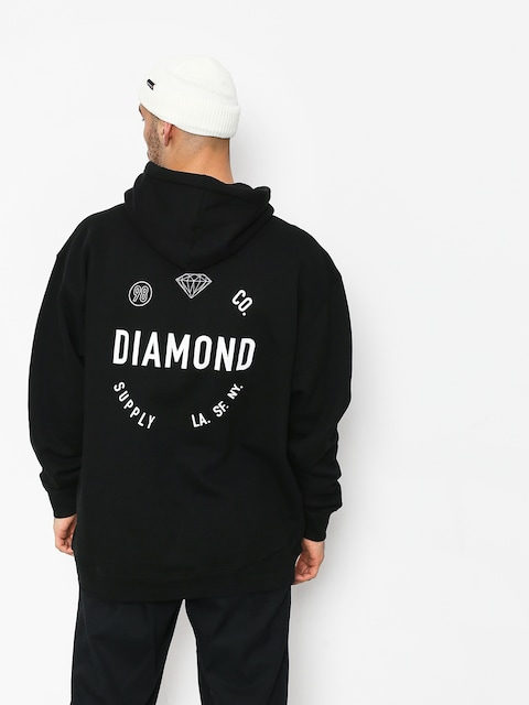 Mikina s kapucňou Diamond Supply Co. Dialed Skate HD (black)