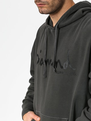 Mikina s kapucňou Diamond Supply Co. Og Script Pigment Dyed HD (black)