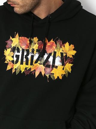 Mikina s kapucňou Grizzly Griptape Seasonal Stamp HD (black)
