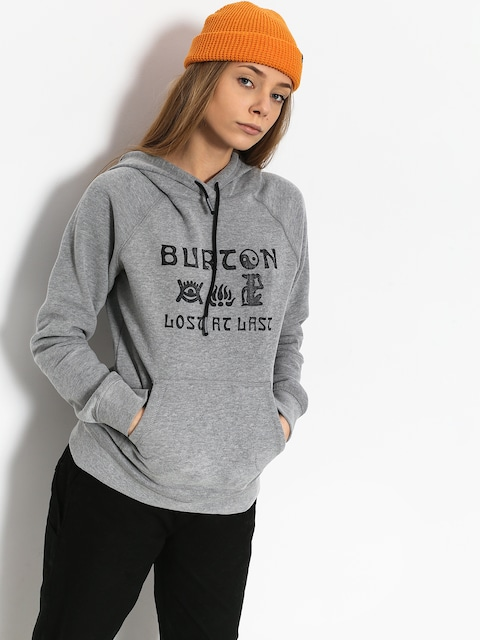Mikina s kapucňou Burton Lingate HD Wmn (gray heather)