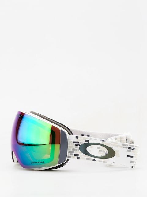 Okuliare na snowboard Oakley Flight Deck Xm (lv sig snowed in stealth/prizm snow jade iridium)
