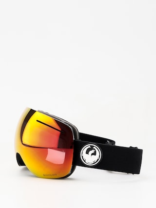 Okuliare na snowboard Dragon X1 (black/lumalens red ion/lumalens rose)