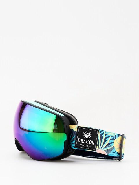 Okuliare na snowboard Dragon X2s (aloha/lumalens green ion/lumalens amber)
