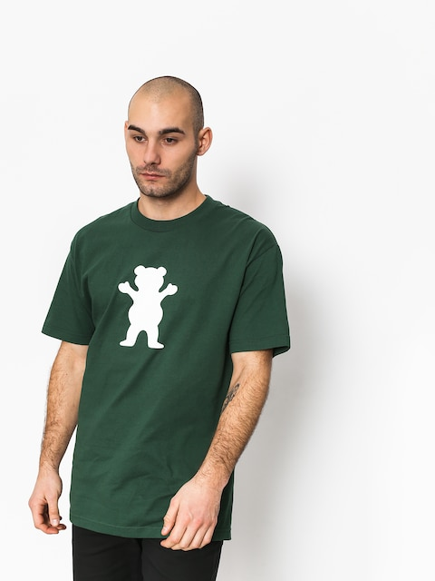 Tričko Grizzly Griptape Og Bear Basic Tee (green)