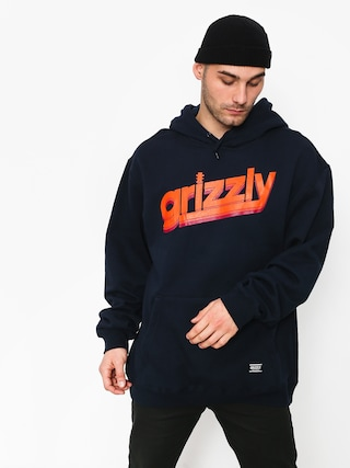 Mikina s kapucňou Grizzly Griptape Fast Times HD (navy)