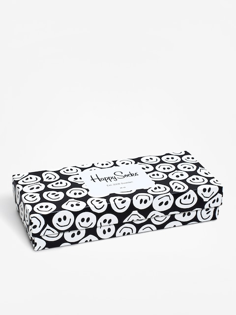 Ponožky Happy Socks Giftbox 4Pak (black/white)