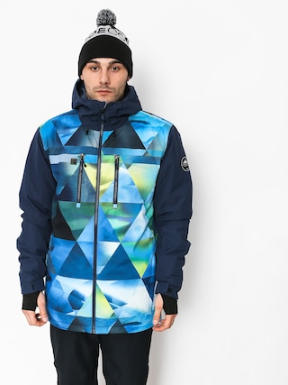 Snowboardová bunda Quiksilver Mission Blck (stretch the un green)