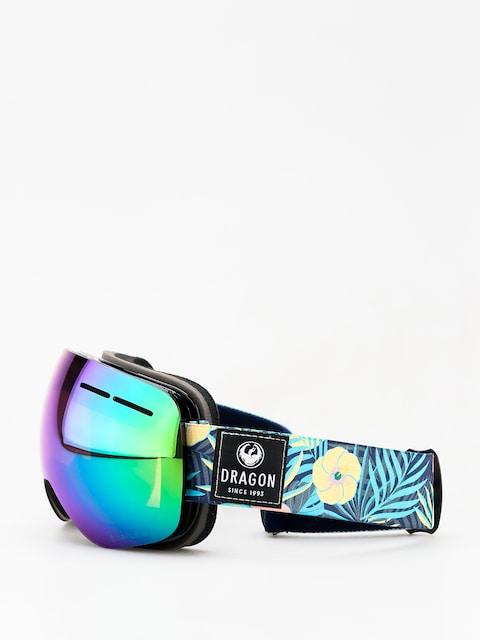 Okuliare na snowboard Dragon X1s (aloha/lumalens green ion/dark smoke)